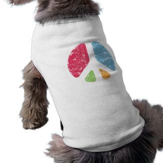 Paz de la plantilla camiseta sin mangas para perro