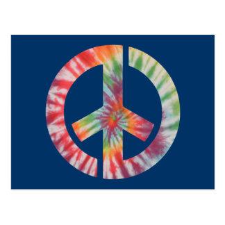 Paz de la plantilla del teñido anudado postal