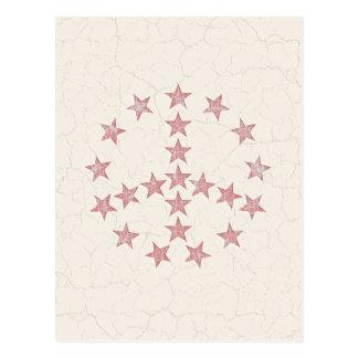 Paz de las estrellas postal