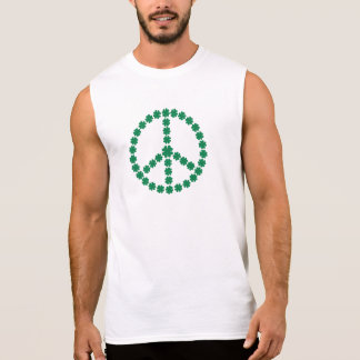 Paz de los tréboles camiseta sin mangas