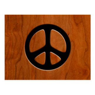 Paz de madera del recorte postal