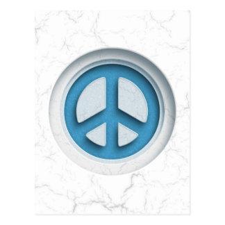 Paz de mármol postal