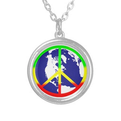 Paz de mundo de Rasta Colgantes