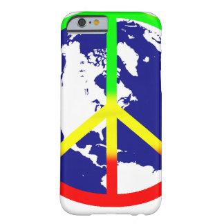 Paz de mundo de Rasta Funda De iPhone 6 Barely There