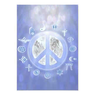 Paz de mundo invitación 12,7 x 17,8 cm