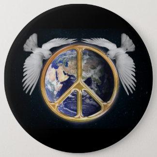 Paz de mundo y botón de las palomas