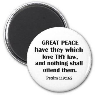 Paz del 119:165 del salmo la gran los tiene que imanes