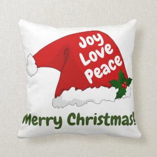Paz del amor de la alegría de la almohada de las