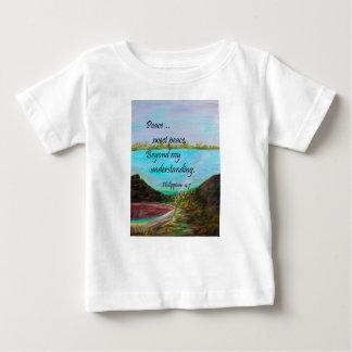 Paz del dulce de la paz camiseta de bebé