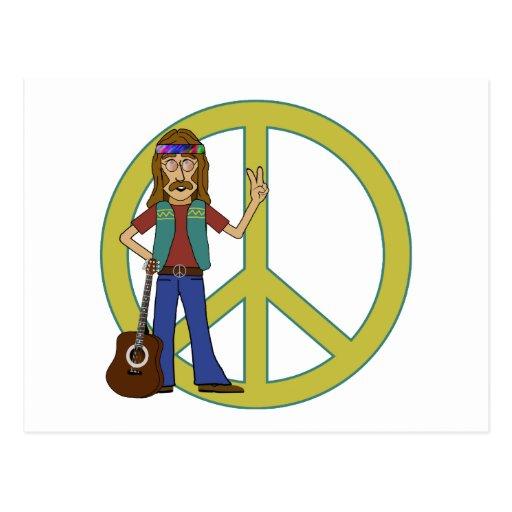Paz del Hippie Postales