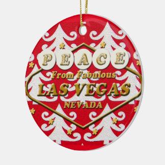 PAZ del ornamento del navidad de Las Vegas Ornamento De Navidad