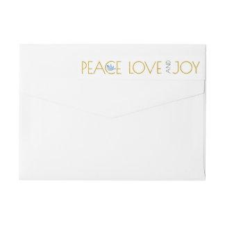 Paz del oro, amor, alegría y navidad de moda de la