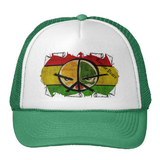 paz del reggae del rasta gorros bordados