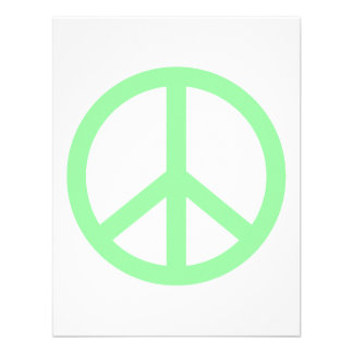 Paz del verde de mar anuncio personalizado