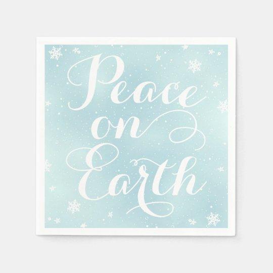 Paz el día de fiesta de la tierra el | servilletas desechables