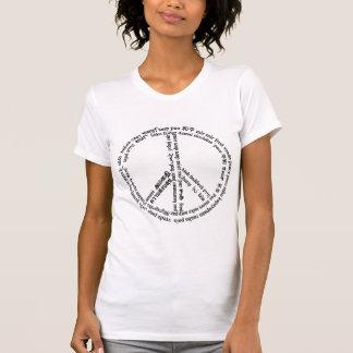 Paz en 65 otros idiomas camiseta