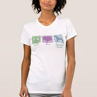 Paz en colores pastel, amor, y terrieres de camiseta