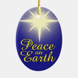 Paz en el ornamento del día de fiesta de la