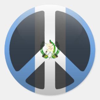 Paz en Guatemala Pegatina Redonda