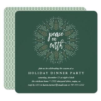 Paz en la invitación del fiesta de cena del día de