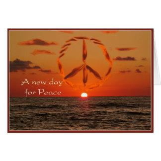 paz en la salida del sol tarjeta