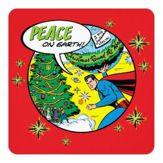 Paz en la tierra del superhombre invitación 13,3 cm x 13,3cm