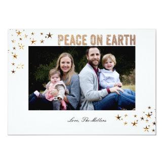 Paz en las estrellas de la tierra invitación 12,7 x 17,8 cm