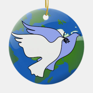 Paz en los ornamentos de las palomas de la tierra adorno