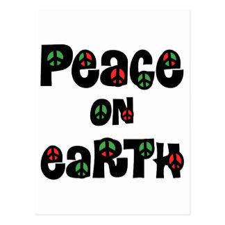 Paz en navidad de la tierra postal
