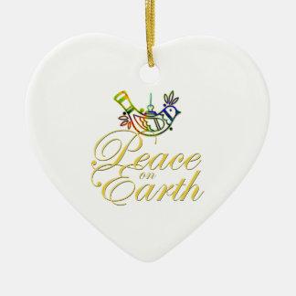 Paz en paloma de la tierra adorno de navidad