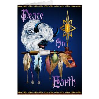 Paz en tarjeta de la tierra