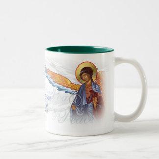"""""""Paz en taza de la tierra"""" con ángeles"""
