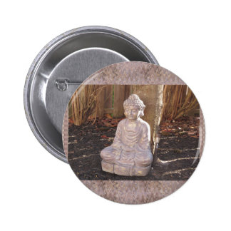 Paz espiritual budista del ídolo de la estatua de chapa redonda de 5 cm