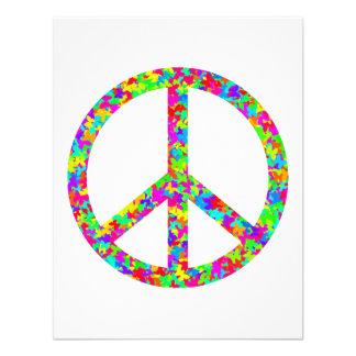 Paz floral brillante anuncio personalizado