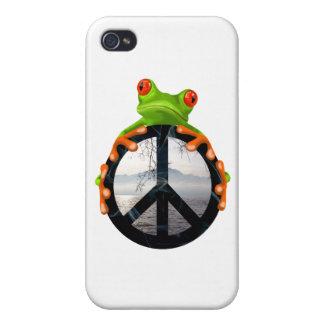 paz frog1 iPhone 4/4S fundas