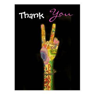Paz - gracias postal por SRF