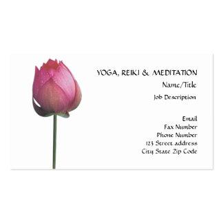 Paz l flor de Lotus/lirio de agua rosados hermosos Tarjetas De Visita