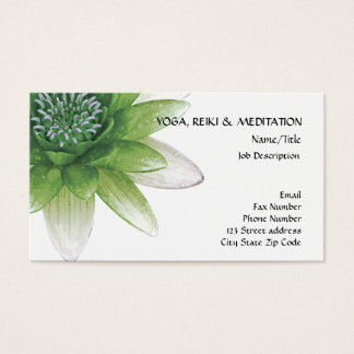 Paz l flor de Lotus/lirio de agua verdes hermosos Tarjeta De Negocios