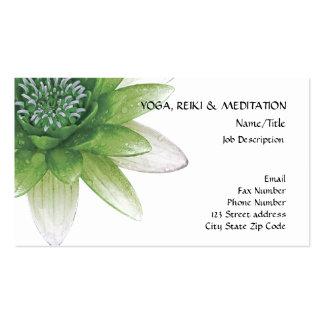 Paz l flor de Lotus/lirio de agua verdes hermosos Tarjeta De Visita