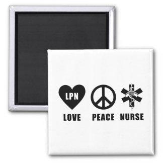 Paz LPN del amor Imán Cuadrado