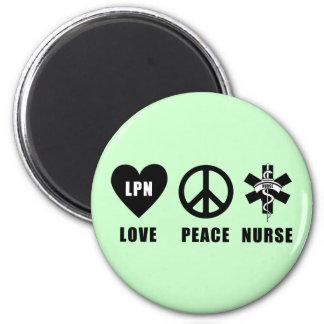 Paz LPN del amor Imán Redondo 5 Cm