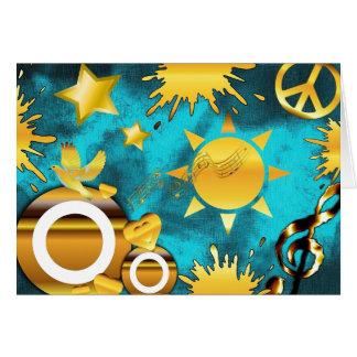 Paz musical tarjeta de felicitación