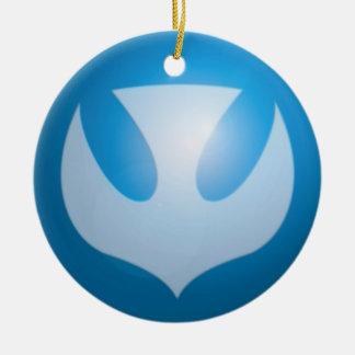 Paz para el navidad adorno navideño redondo de cerámica