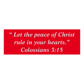 """Paz pequeñas notas de Cristo"" Tarjetas De Visita Mini"
