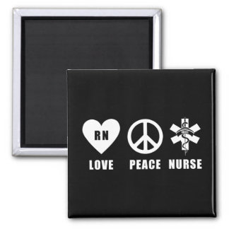 Paz RN del amor Imán Para Frigorífico