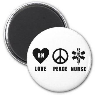 Paz RN del amor Imán Redondo 5 Cm