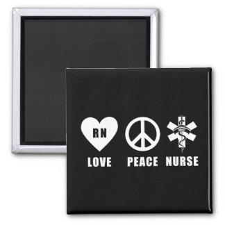 Paz RN del amor Imanes