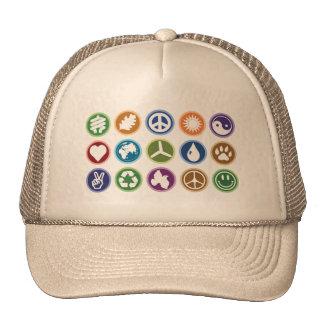 Paz/símbolos de Eco Gorras