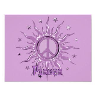 Paz Sun Piscis Invitación 10,8 X 13,9 Cm