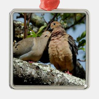 Paz y alegría del amor de los amantes de las palom ornamente de reyes